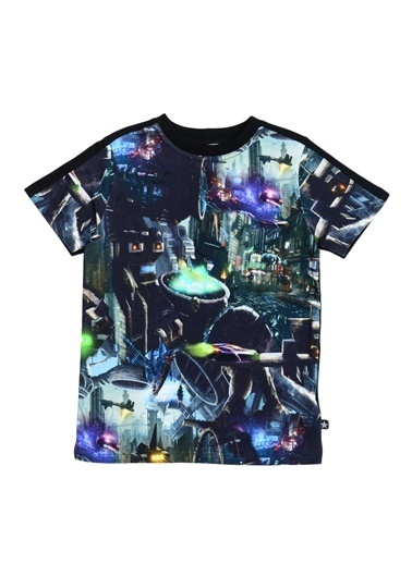 Asymmetry Molo T-Shirt Siyah